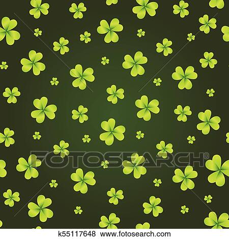 Shamrock Background St Patricks Day Wallpaper Seamless