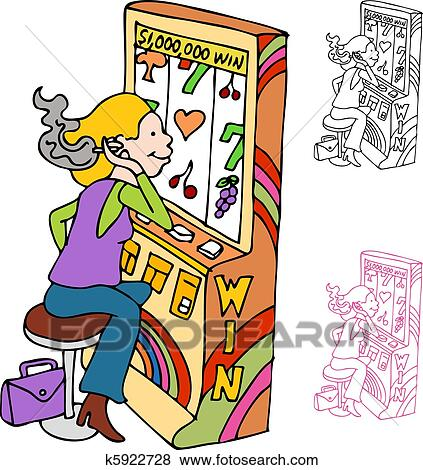 smoking and gambling slot machine player clip art rh fotosearch com gambling clipart borders online gambling clipart