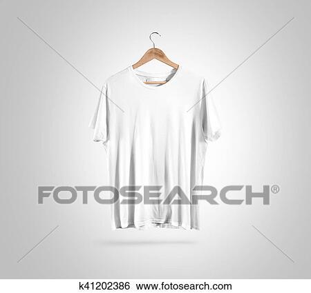 Stock Images Of Blank White T Shirt On Hanger Design Mockup