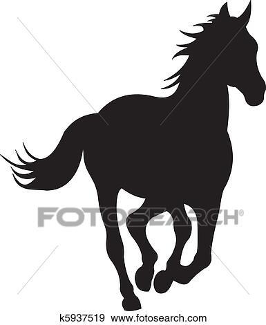 Cheval silhouette vecteur clipart k5937519 fotosearch - Clipart cheval ...