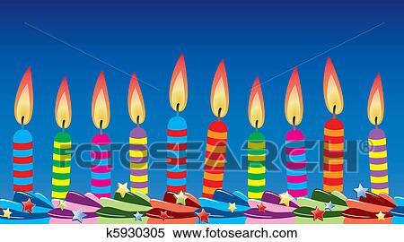 Clipart - geburtstag kerzen, auf, kuchen k5930305 - Suche Clip Art ...