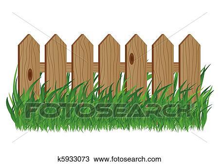 Clipart Holzerner Zaun K5933073 Suche Clip Art Illustration