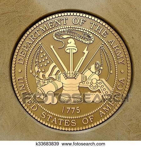 Symbols of USA Military Army Navy Airforce Marines Stock Photo