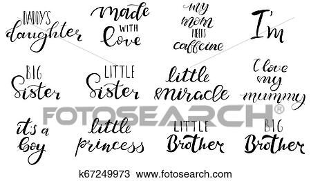 Big Sister Brother Little Miracle Princess Clipart K67249973 Fotosearch