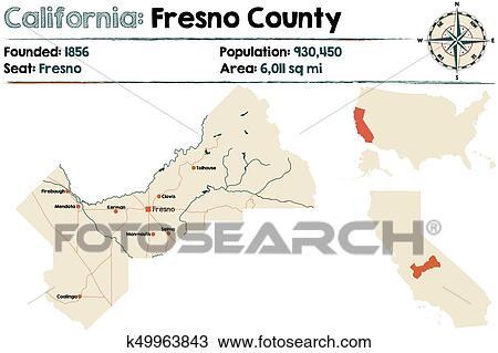 Map Of California Fresno.California Fresno County Map Clipart