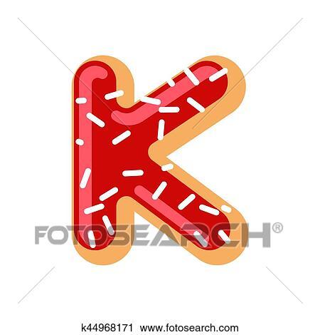 Clipart Of Letter K Donut Font Doughnut Alphabet Sweet Lettering