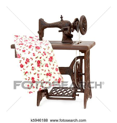 Pictures Of Old Sewing Machine Isolated On White Background K40 Custom Old Sewing Machine