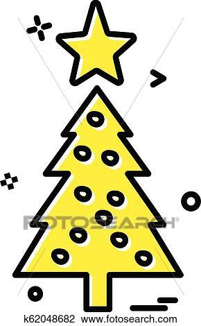 Symbol Weihnachtsbaum.Weihnachtsbaum Symbol Design Vektor Clipart