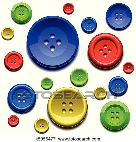 634bc14c075d Ράψιμο, χρώμα, κουμπιά Κλίπαρτ   k5956477   Fotosearch