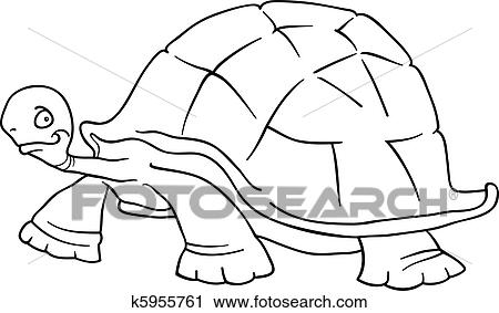 Clipart of big turtle for coloring book k5955761 - Search Clip Art ...