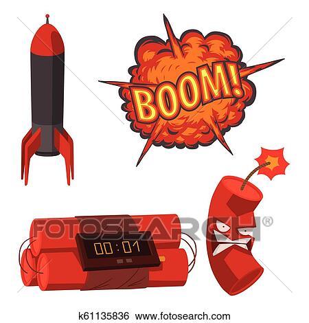 Bomba Dinamite Fusivel Vetorial Ilustracao Granada Ataque
