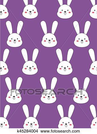 Cute Bunny Wallpaper Stock Illustration K45284004 Fotosearch