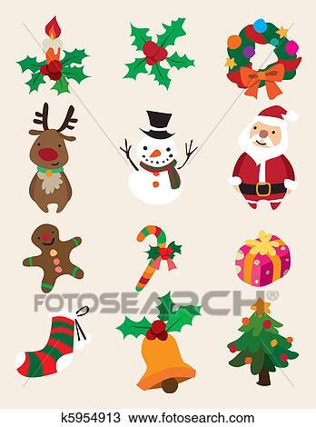 Cute cartoon Christmas element Clipart