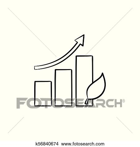 Growth arrow hand drawn sketch icon. Clipart | k56840674 ...