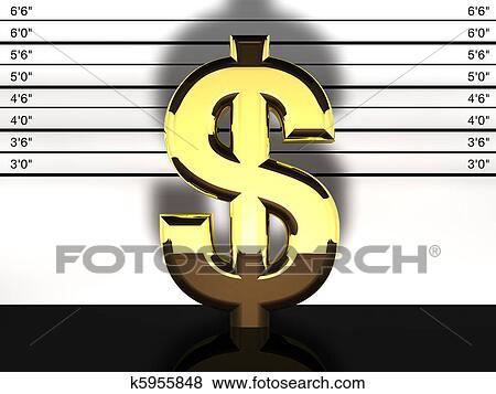 Colección De Iraciones Muestra Del Dólar Tiro La Taza Financiero Fraude