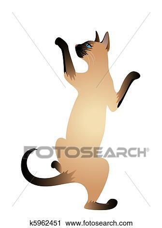 美しい シャム 猫 クリップアート切り張りイラスト絵画集