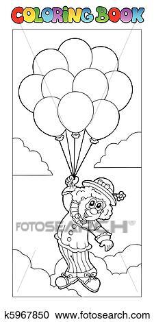 Clipart Ausmalbilder Mit Fliegen Clown K5967850 Suche Clip