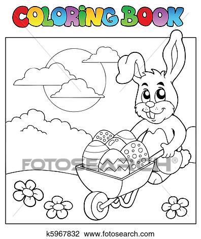 Ausmalbilder Mit Kaninchen Und Karren Clipart K5967832