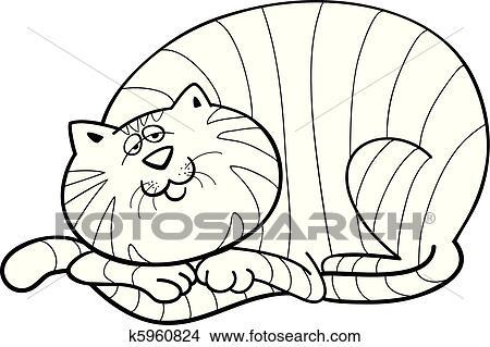 Dicke Katze Für Ausmalbilder Clipart