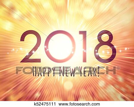 clipart happy new year 2018 greeting card fotosearch search clip art illustration