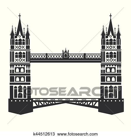 Clipart Of London Tower Bridge K44512613 Search Clip Art