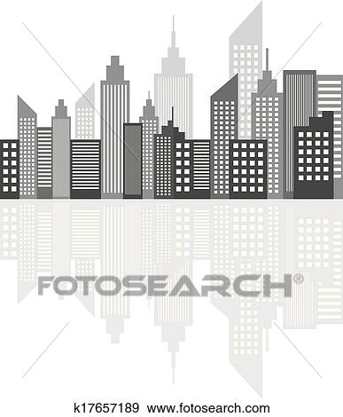 Clip art moderno metropoli citt grattacieli for Disegni new york