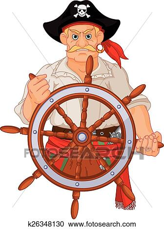 clipart of pirate at the wheel k26348130 search clip art
