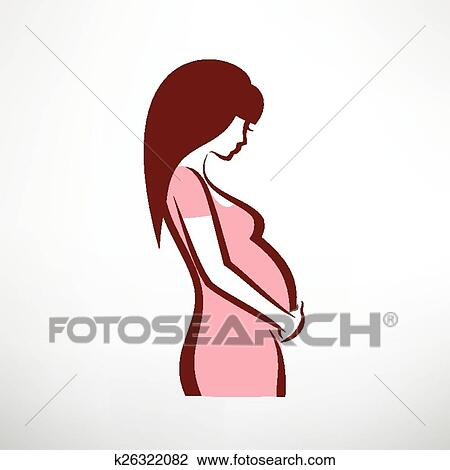 clipart of pregnant woman symbol k26322082 search clip art rh fotosearch com clip art pregnant woman on phone clip art pregnant woman on phone