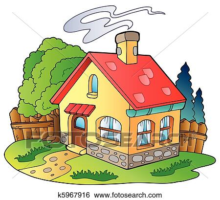 Clip Art Of Small Family House K5967916 Search Clipart
