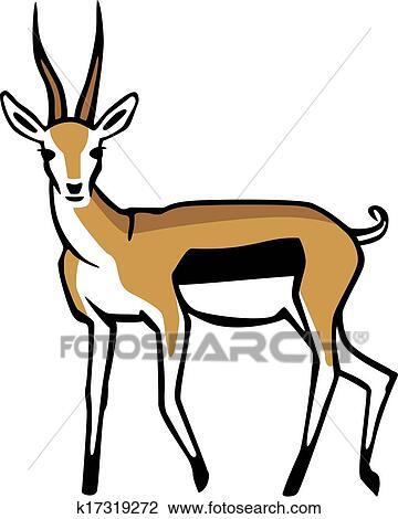 clipart of thomson s gazelle k17319272 search clip art rh fotosearch com Cheetah Clip Art Giraffe Clip Art