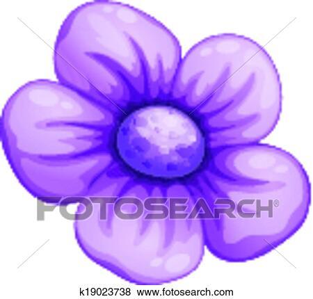 Clipart A Fleur Violette K19023738 Recherchez Des Cliparts Des
