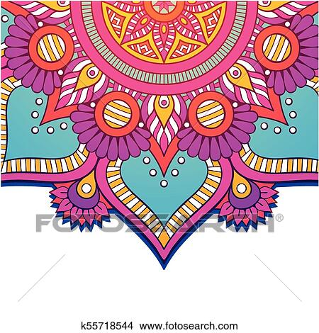 Abstract Mandala Colorful Flower Design Vector Image Clipart