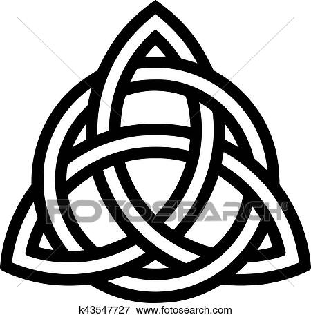 clip art of celtic knot with outlines k43547727 search clipart rh fotosearch com celtic trinity knot clipart celtic knot clip art black and white