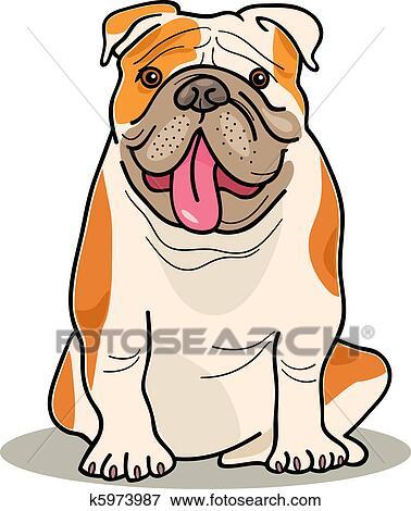 clip art of dog breeds bulldog k5973987 search clipart rh fotosearch com old english bulldog clipart english bulldog face clipart