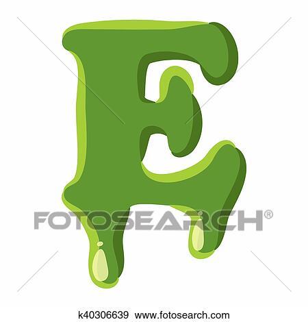 Banque d'Illustrations - lettre e, fait, de, vert, vase k40306639 ...