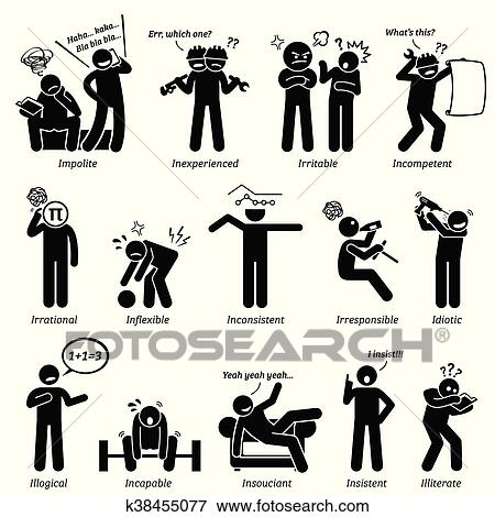clip art of negative character traits k38455077 search clipart