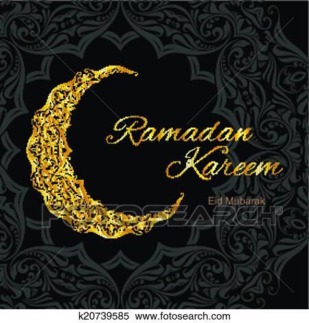 Clipart of ramadan kareem greeting card k20739585 search clip art clipart ramadan kareem greeting card fotosearch search clip art illustration murals m4hsunfo