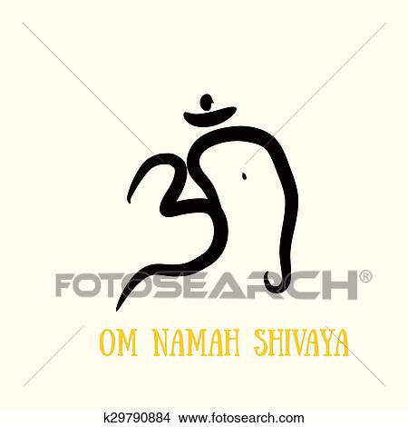 Clipart Of Sign Vector Hindu Om Icon In Tamil K29790884 Search