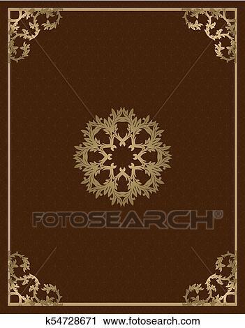 Clipart - vendimia, oro, plano de fondo, vector, cuadrado ...