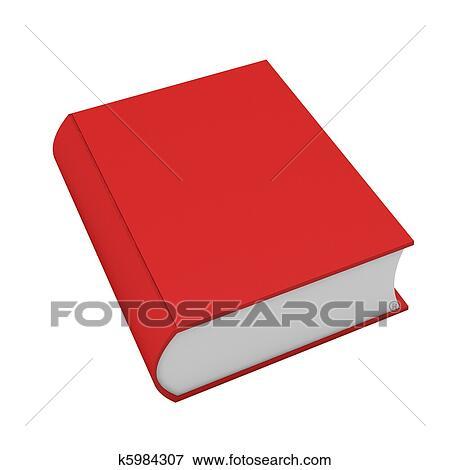 Dessin D Un Livre banque d'illustrations - 3d, render, de, livre rouge, blanc k5984307