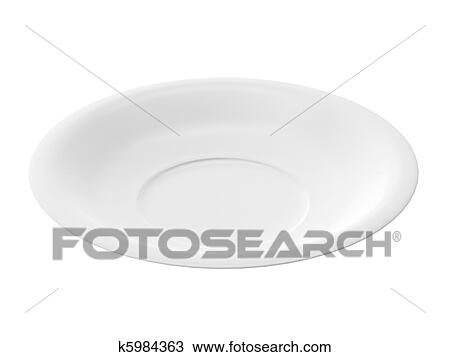3d Render Of White Plate On White Background Drawing