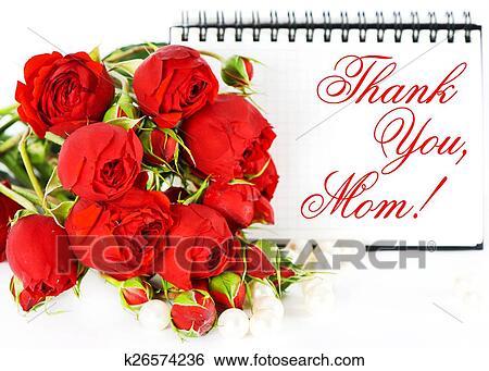 Bekend Stock Afbeeldingen - bedankt, mom!, moederdag, kaart, concept, met  ZH39