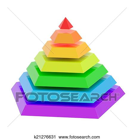 clipart of divided into segments pyramid k21276631 search clip art rh fotosearch com pyramids clipart silhouette pyramid clipart with six layers