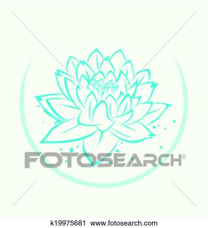 Clipart of lotus flower symbol k19975681 search clip art lotus flower symbol mightylinksfo