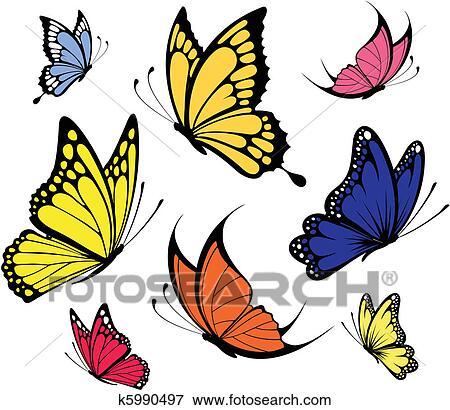 Clip Art Farfalle Vettore K5990497 Cerca Clipart Poster
