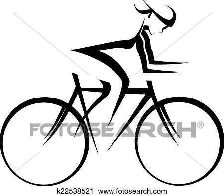 Femmina Bicicletta Piattaforma Girevole Disegno Clipart