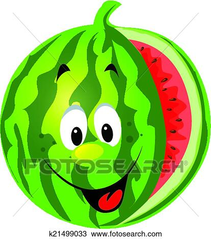 clipart of happy melon cartoon k21499033 search clip art rh fotosearch com melon clipart lemon clip art images