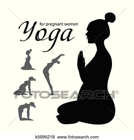 clipart  yogaforpregnantwomen k5995218  recherchez
