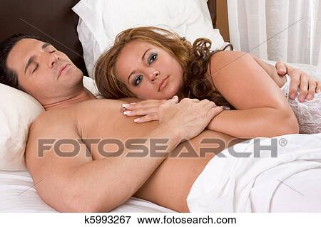 Picture Loving Young Nude Erotic Sensual Couple In Bed Fotosearch Search Stock Photography