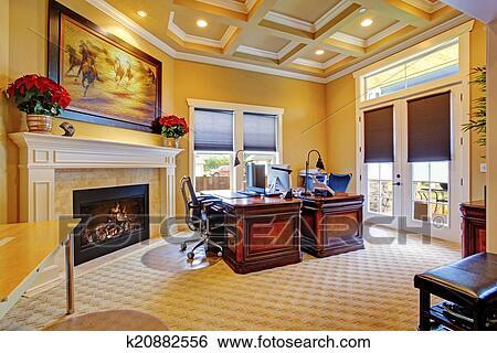 Stock afbeeldingen luxe bureau kamer binnenste k20882556 zoek